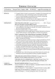 resume sample administrative assistant gif Resume Resource