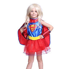 Supergirl Halloween Costume Déguisement Enfant Costume Fille Tenue Halloween Carnaval Super