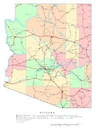 Map Of The Usa by Large Detailed Administrative Map Of Arizona State With Roads