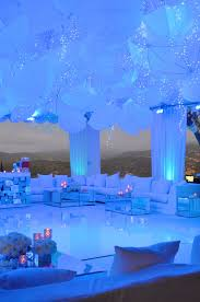now that u0027s a ceiling white umbrellas blue hue lighting and