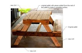 Plans For Wood Picnic Table by Ana White Pallet Picnic Table How To Diy Projects