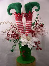elf in hat christmas arrangement milanddil designs pinterest