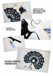 no sew halloween spiderweb cape tutorial