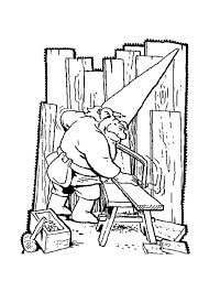 coloring pages of tools david the gnome david the gnome saw up piece of wood coloring