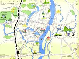 China City Map by Guilin Maps Map Of Guilin China Guilin Tourist Maps Guilin City Map