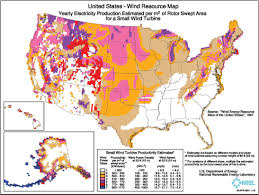 Map For United States by Map Of Best Locations For Wind Power Wind Power Solar Power