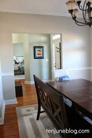 Serenity Blue Paint Ten June Dining Room Paint Makeover Sherwin Williams Agreeable Gray