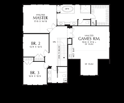 Floor Plan With Roof Plan by Mascord House Plan 22199 The Hood River
