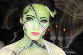bride of frankenstein halloween makeup tutorial youtube