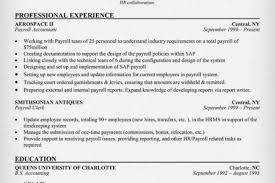 Sample Staff Accountant Resume by Payroll Resume Sample Reentrycorps