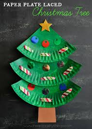 paper plate laced christmas tree craft learning skills