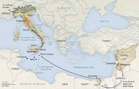 Exodus Route Map by The Syrian Exodus Into A European Maze Thesyriantimes Politics