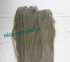 Grey Human Hair Extensions by Weave Indian Hair Picture More Detailed Picture About Virgin