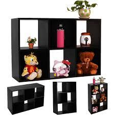 Cube Storage Shelves 6 Grid Organizer Black Storage Shelf Bookcases U0026 Standing