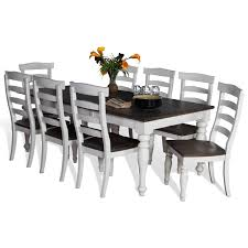 9 piece extension dining table set with ladderback chairs by sunny