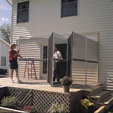 Outdoor Patio With Roof by Amazon Com Patio Mate 8 Panel Screen Enclosure 89322 White With
