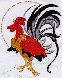 Free Kitchen Embroidery Designs by This Free Embroidery Design Is A Rooster Just Perfect For Kitchen
