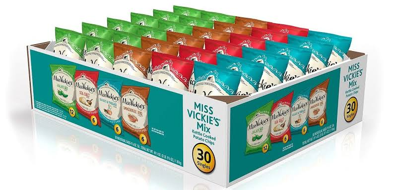 Miss Vickie's Kettle Cooked Potato Chips Variety Pack (1.3 oz., 30 ct.) by Yobys