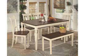 Whitesburg Dining Room Bench Ashley Furniture HomeStore - Ashley furniture dining table with bench