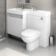 Bathroom Combined Vanity Units by 1200mm White Vanity Unit Back To Wall Toilet Bathroom Sink