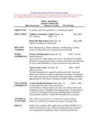 Resume Sample For First Job by Example Student Nurse Resume Free Sample Nursing