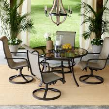 5 Pc Patio Dining Set - garden oasis providence 5 piece swivel dining set limited