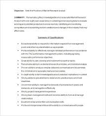 Research Analyst Sample Resume by Marketing Analyst Resume Template U2013 16 Free Samples Examples