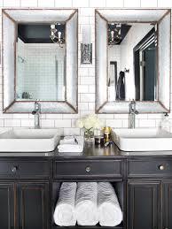 Vintage Black And White Bathroom Ideas White Bathroom Vanities Hgtv