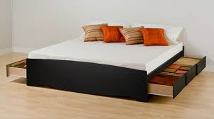 King Size Platform Bed Designs by Beautiful Platform Beds With Storage Elevated Bed Google Search F