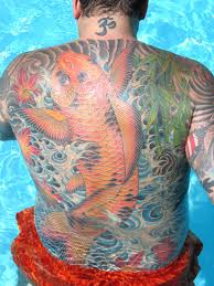 Back Piece Japanese Koi Fish Tattoos For Men Picture 8