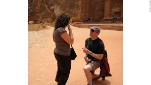 Brian proposes in Petra  Jordan  Amy and Brian enjoy traveling at an intense pace CNN com