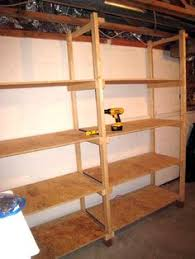 Build Wood Garage Shelves by Diy Basement Shelving Basement Shelving Wood Grain And Shelving
