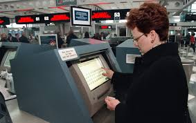 how to use the airport u0027s self service check in kiosks
