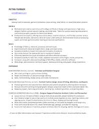 Resume Retail Template Seamstress Resume Resume For Your Job Application