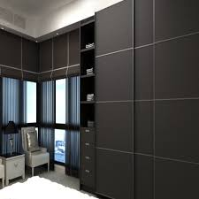 Wardrobes With Sliding Doors Customized Modern Melamine Mdf Wardrobe With 3 Sliding Doors In