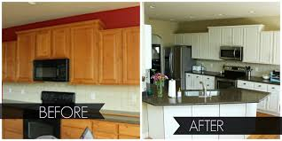 Oak Kitchen Cabinets Refinishing Paint Kitchen Cabinets Before And After U2014 Desjar Interior