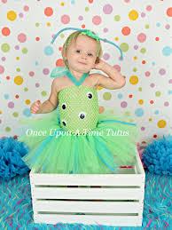 blue halloween costume green blue crazy alien monster tutu dress birthday