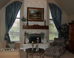 curved window curtain rod installation
