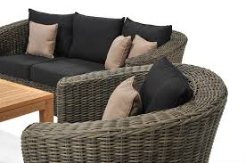 Black Wicker Patio Furniture Sets - furniture awesome black wicker chair cushions for excellent