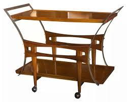englander u0026 bonta walnut and brass trolley bar cart buenos aires