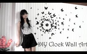 diy clock wall art 3d youtube
