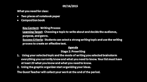 writing a composition paper 09 16 2015 what you need for class two pieces of notebook 1