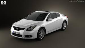 nissan altima coupe black 360 view of nissan altima coupe 2012 3d model hum3d store