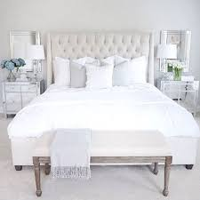 Hemnes Bed Frame With  Storage Boxes White Stain Length - White tufted leather bedroom set