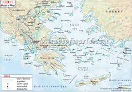Google Maps Greece by Greece Physical Map Physical Map Of Greece