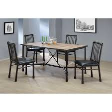 Metal Dining Room Chair Acme Furniture Caitlin Black Metal Dining Chair Set Of 2 72037