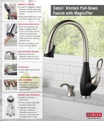 delta satori ez anchor single handle pull down sprayer kitchen
