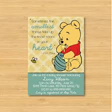 Invitation Cards For Baby Shower Templates Winnie The Pooh Baby Shower Invitation Printable The Smallest