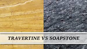 travertine vs soapstone countertop comparison youtube