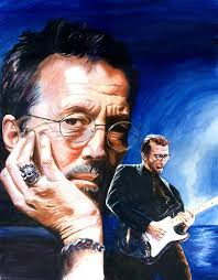 Eric Clapton Blues Lake Painting - Eric Clapton Blues Lake Fine Art Print - eric-clapton-blues-lake-ken-meyer-jr